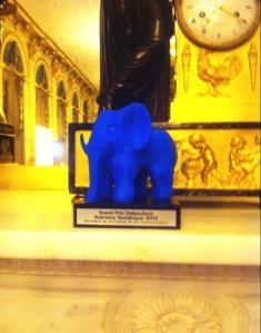 Augustine, trophée du Hackathon de l'Automne numérique. Photo : C. Domange